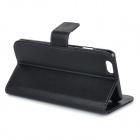 M-90 Protective Flip-Open PU Leather Case Cover w/ Stand + Card Slots for IPHONE 6 PLUS - Black