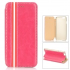 "Protective PU + PC Flip-Open Case w/ Stand for IPHONE 6 4.7"" - Deep Pink"