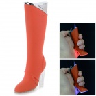 Creative Women's Boot Shaped Zinc Alloy Butane Lighter - Orange