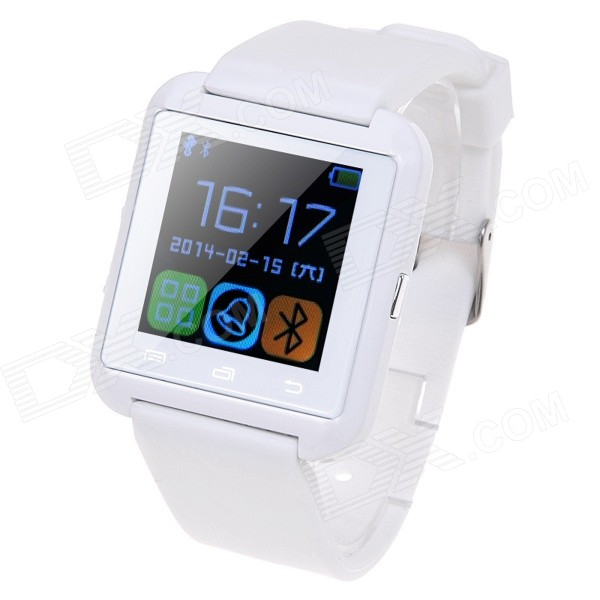 U8S Waterproof Wearable 1.48 Touch Screen Smart Watch w/ Bluetooth & Pedometer - White u80 smart watch with pedometer function