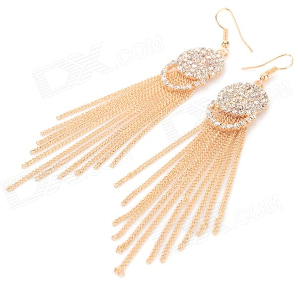 Women's Fashion Tassel Style Zinc Alloy Earrings - Golden + Silver (Pair)