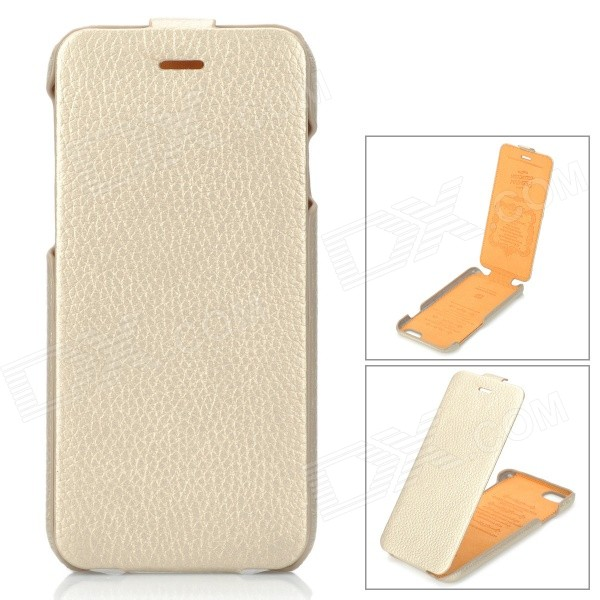 HOCO HS-L079 Fashion Protective Leather Up-Down Flip Open Case for IPHONE 6 4.7 - Champagne гарнитура a4tech hs 7p