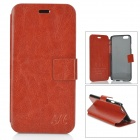 "HuaLaiShi Protective PU Leather + ABS Case w/ Stand for IPHONE 6 4.7"" - Brown + Black"