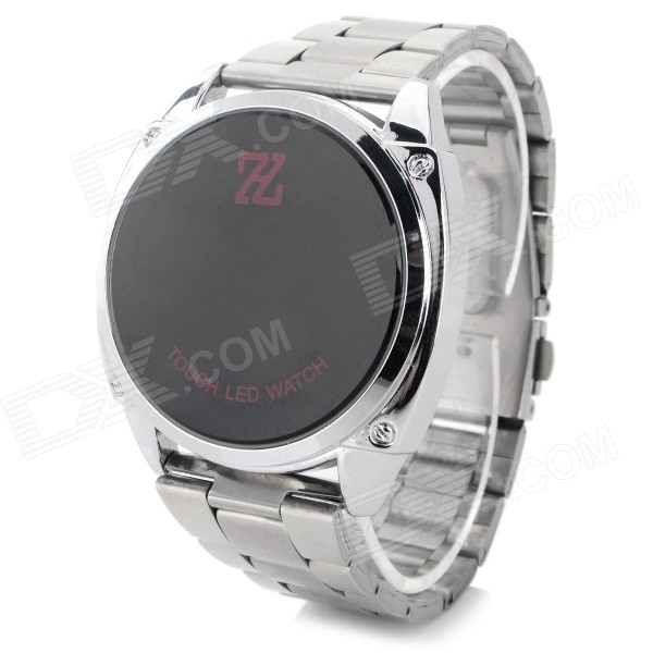 HZ HZ-2014 Casual Stainlesss Steel Band Digital LED Watch - Silver (1 x CR2032)