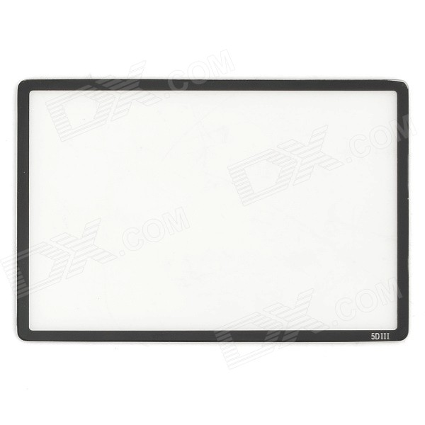 Protective Screen Protector for Canon 5DIII - Transparent + Black