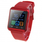 "U8S Waterproof Wearable 1.48"" Touch Screen Smart Watch w/ Bluetooth & Pedometer - Red + Black"