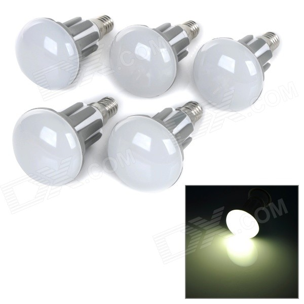 R50-WW 3.5W E14 300lm 2700K Warm White Light 2835 LED Bulb - White + Grey (AC 220~240V / 5PCS)