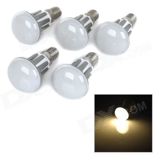 R39-WW 2.5W E14 230lm 2700K Warm White Light 2835 LED Bulb - White + Grey (AC 220~240V / 5PCS)