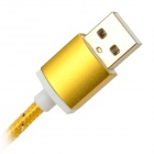 USB to Micro USB Data Charging Nylon Cable for Samsung Galaxy S3 / S4 - Gold (1.5m)