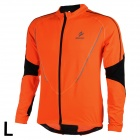ARSUXEO AR130021 Men's Running Cycling Sports Elastic Long-Sleeve Jersey Top - Orange + Black (L)
