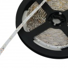 JRLED 24W 900lm 570nm 300-SMD 3528 LED Yellow Light Strip w/ Controller - Black + White (5M / 12V)
