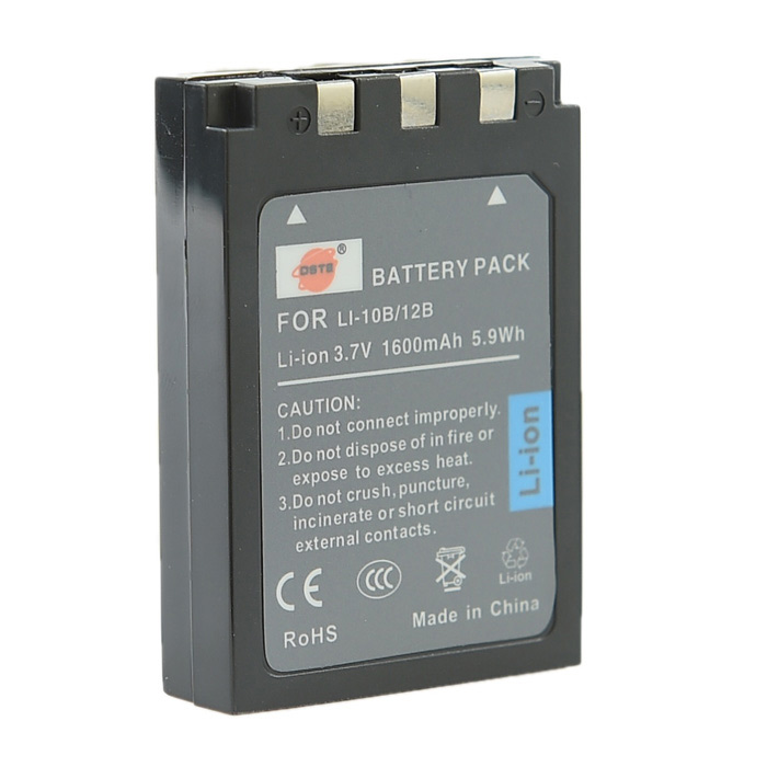 DSTE Replacement 3.7V 1600mAh Li-ion Battery for OLYMPUS DSC-MZ3 AZ3 DSC-J2 FE-200 IR-300 Camera