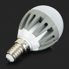 E14 3.5W 300lm 2700K 18-SMD 2835 LED Warm White Bulbs - White + Greyish White (5 PCS / AC 220~240V)
