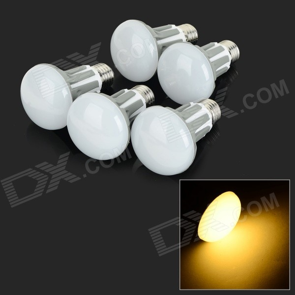 E27 5W 420lm 2700K 30-SMD 2835 LED Warm White Bulbs - White + Greyish White (5 PCS / AC 220~240V)