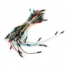 DIY 700-Point Breadboard + 65 x Breadboard Jump Wires Kit - Transparent + Blue + Multi-color
