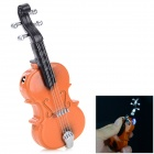 Creative Violin Shaped Zinc Alloy + Plastic Butane Lighter - Black + Red Brown