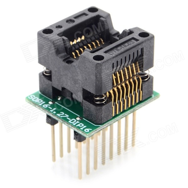 SOP16 to DIP16 150MIL Programming Board - Black + Green sop8 to dip8 programming adapter socket module black green 150mil