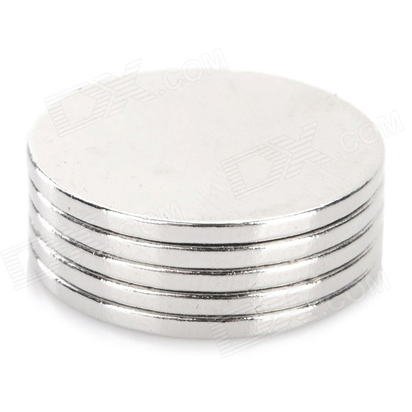 18 x 1.3mm Round Shaped N35 NdFeB Magnets - Silver (5 PCS)
