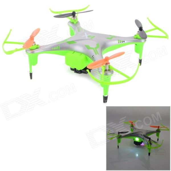 IA 8957V 2.4GHz 4-CH R/C Quadcopter w/ 300KP Camera + 6-Axis Gyro - Silver + Green