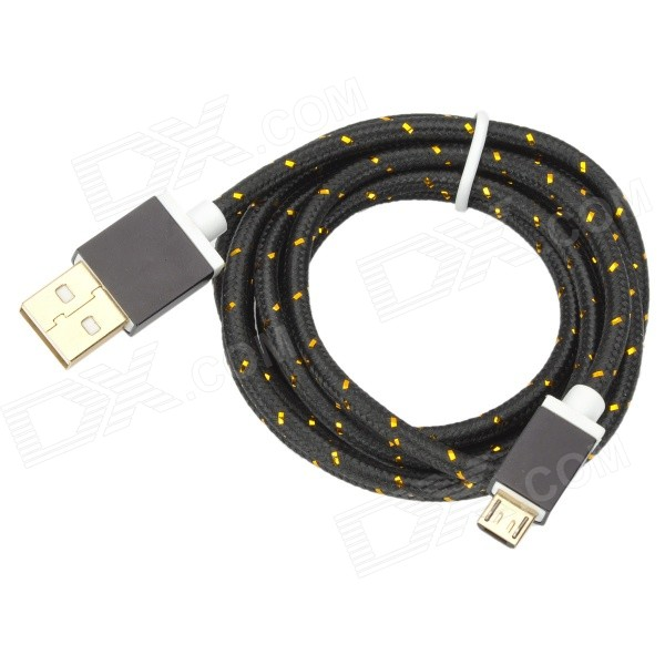 USB to Micro USB Data Charging Nylon Cable for Samsung S3/S4 - Black