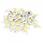 JRLED 1W 90lm 3300K 1-LED Warm White Light Emitter Boards - White + Beige (50 PCS / 3.0~3.2V)