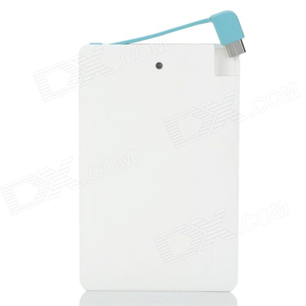 CB001 Ultra-Slim Card Type Mobile 2600mAh Power Bank - White