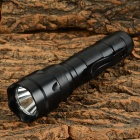 UltraFire 502B 900lm 5-Mode Cool White Flashlight w/ Bicycle Mount - Black (1 x 18650)