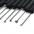 Steel Hook Lock Picks / Locksmith Tools for Kabbah / Handle Locks - Black + Silver (14 PCS)