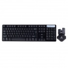 JW-1979 2.4G Wireless 105-Key Fashion Tastatur + Maus-Set - Schwarz