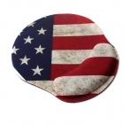 Retro American Flag Pattern Mouse Pad - Red + Blue + Multi-Color
