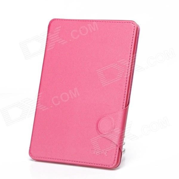 Protective PU Leather Smart Case w/ Stand / Card Slot for IPAD MINI 2 - Deep Pink briefcase style protective pu leather stand case w dormancy function for ipad mini pink