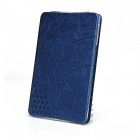 Fashion Protective PU Leather Smart Case w/ Stand for IPAD MINI - Dark Blue