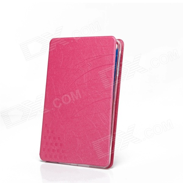 Fashion Protective PU Leather Smart Case w/ Stand for IPAD MINI - Deep Pink