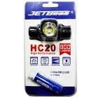 JETBeam HC20 800lm 5-Mode Cool White LED hodelykt lommelykt-svart (1 x 18650)