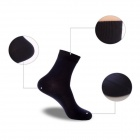AS-66 Casual Moisture-wicking Men's Cotton Socks - Black (Pair)