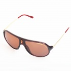 OREKA SAFARI Casual UV400 Protection PC Sunglasses - Brown + Tan