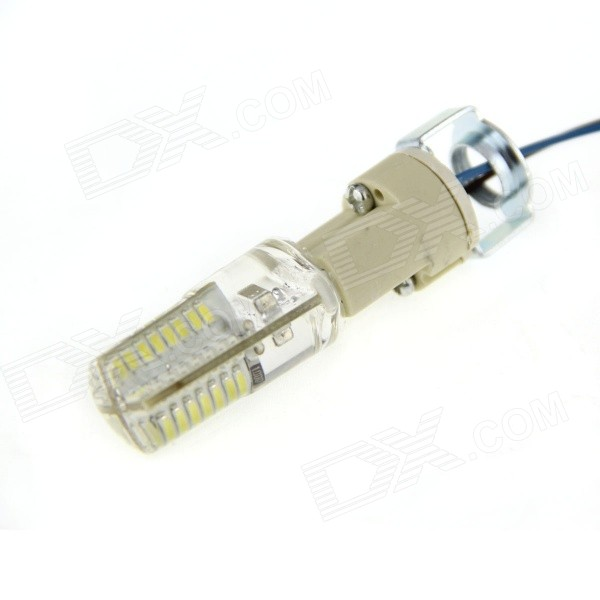4W Scene Light Bulb Wam White 210lm 64-3014 SMD w/G9 Holder/Cable LeadOther Connector Bulbs<br>Form  ColorTransparent + beige Color BINWarm WhiteBrandNOModelN/AMaterialAluminum + PCQuantity1 DX.PCM.Model.AttributeModel.UnitPower4WRated VoltageAC 220 DX.PCM.Model.AttributeModel.UnitConnector TypeOthers,G9Chip BrandOthers,N/AEmitter TypeOthers,3014Total Emitters64Actual Lumens210 DX.PCM.Model.AttributeModel.UnitColor Temperature12000K,Others,3000~3500KDimmableYesPacking List1 x Lamp w/ G9 holder (line length: 19 cm)<br>