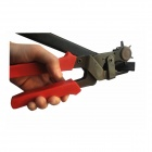 High Carbon Steel Belt Punch - Red + Grey
