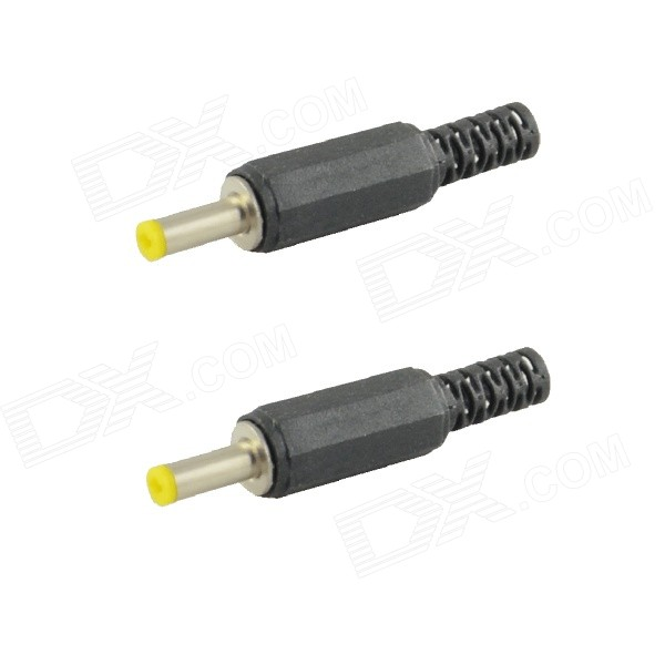 HF 1.7mm DC Power Plug Connectors - Black (2 PCS)