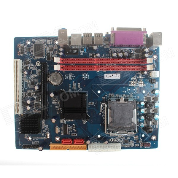 Intel G45 ATX LGA 775 DDR3 Computer Motherboard - Blue + Silver original laptop motherboard for asus x750jn rev2 1 system board with i7 4700cpu onboard ddr3 100