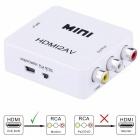 VK-128 HDMI AV Zoom Video to Audio Converter w/ RCA - White