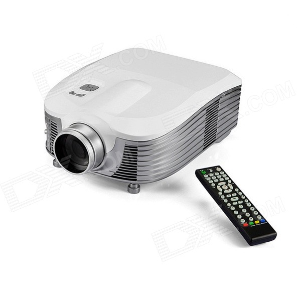 LED-9 External Wi-Fi HD LED Home / Business Projector - White + Silvery Grey