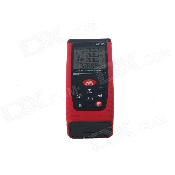 CATCAM CP-60 Multifunctional Hand-held Laser Range Finder Distance Meter - Red + Black (2 x AAA)