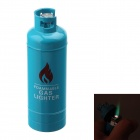 Fashion Gas-Jar Shaped Zinc Alloy Windproof Butane Lighter - Blue