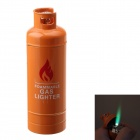Fashion Gas-Jar Shaped Zinc Alloy Windproof Butane Lighter - Orange