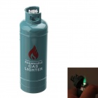 Fashion Gas-Jar Shaped Zinc Alloy Windproof Butane Lighter - Blue Grey
