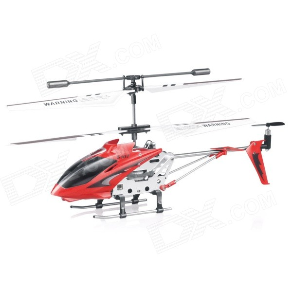 SYMA S107G USB Rechargeable 3.5-CH R/C Helicopter w/ Gyroscope / IR Remote Controller - Red + Black