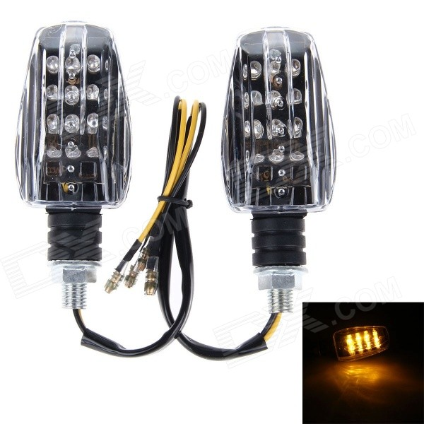 D23 1W 150lm Yellow Light 24-LED Motorcycle Accessories Modified Steering Lamps (12V)