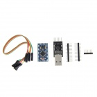 Microcontroller Board + CP2102 Module + DuPont Cable + Pin Headers for Arduino - Blue