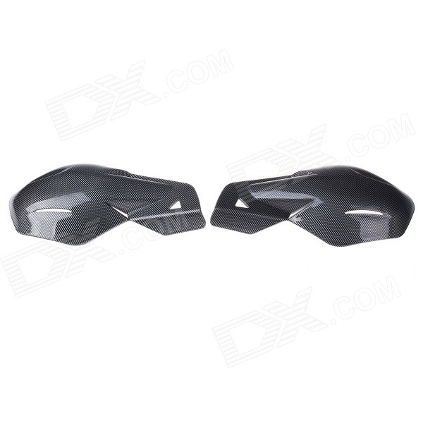 Stylish Windproof Motorcycle Handlebar Guard Protector - Black + Grey